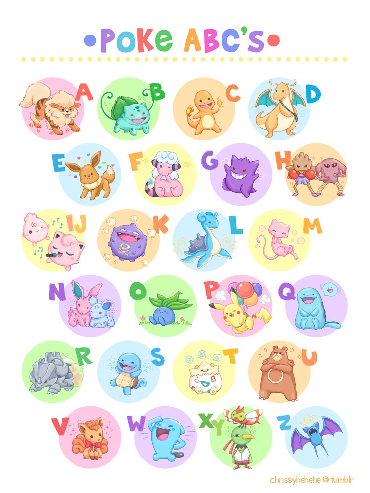 Pokémon,Fan Art,abcs
