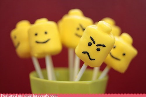epicute face head marshmallows minifig pops sweets yellow - 5514776576