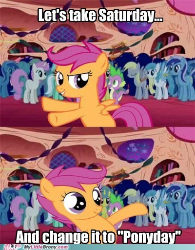 meme ponify ponyday pushing patrick scooting scootaloo - 5515047680