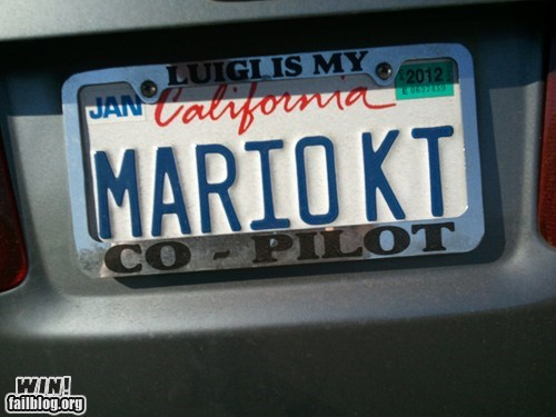 car custom license plate Mario Kart nerdgasm nintendo