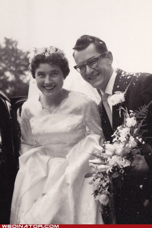 50s bride funny wedding photos groom retro vintage