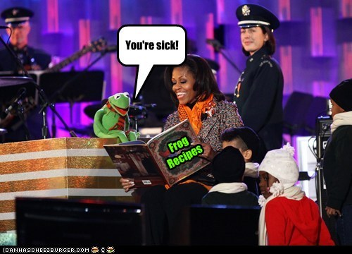 christmas kermit the frog Michelle Obama muppets political pictures - 5516090880