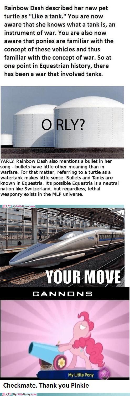 argument bullets cannons canon mlp universe pinkie pie tanks - 5516287488