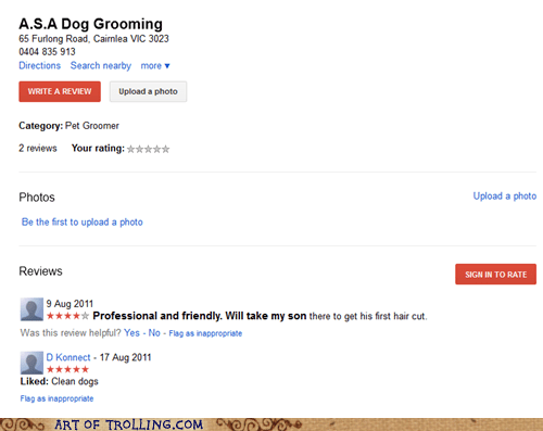 Dog Grooming kid pet shoppers beware son - 5516354560
