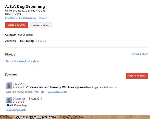Dog Grooming kid pet shoppers beware son - 5516354560