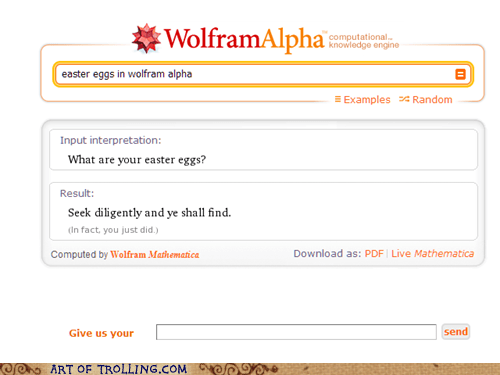 boring easter eggs wolfram alpha - 5516542976