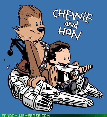 best of week,calvin and hobbes,crossover,Fan Art,star wars