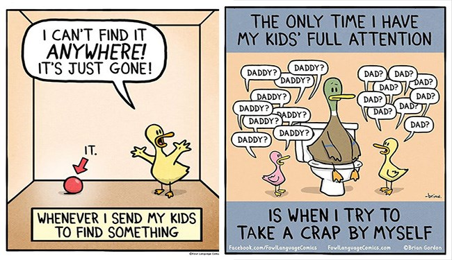 duck comics about parenting
