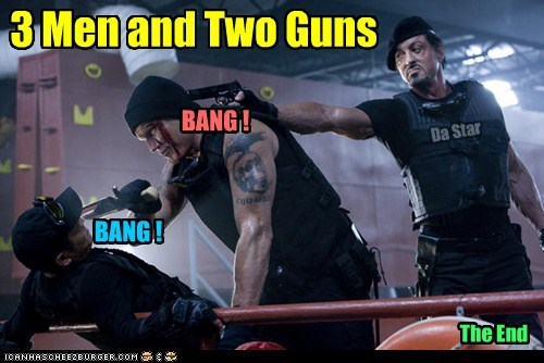 guns short Sylvester Stallone - 5517982720