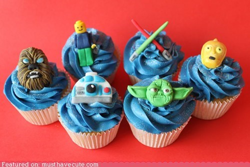 characters,cupcakes,epicute,fondant,frosting,star wars