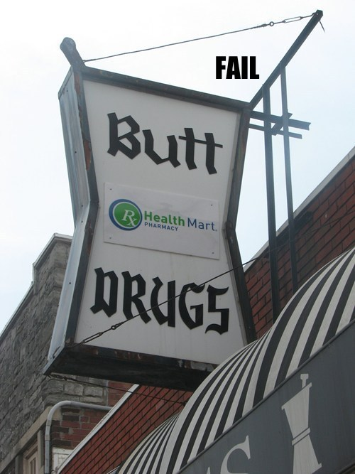 butts,pharmacy,Professional At Work,store name