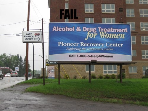 alcohol billboard drinking juxtaposition - 5519475456