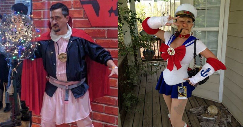 cosplay puns such as popeye the sailor moon and doctor stranger things