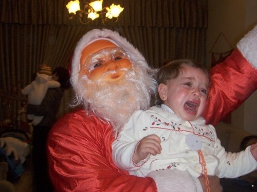baby creepy crying mask Party santa