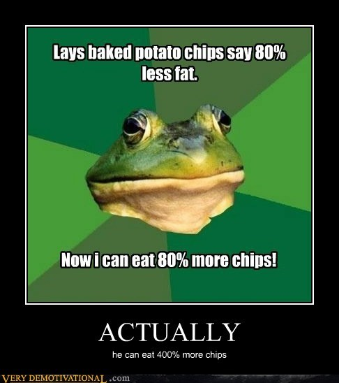 chips foul bachelor frog hilarious math percentage