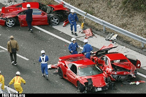 cars,crash,ferrari,Hall of Fame,ouch