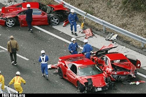 cars crash ferrari Hall of Fame ouch - 5521113088