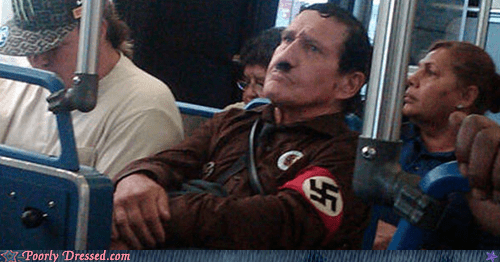 commuting,hitler on the bus,one of those faces