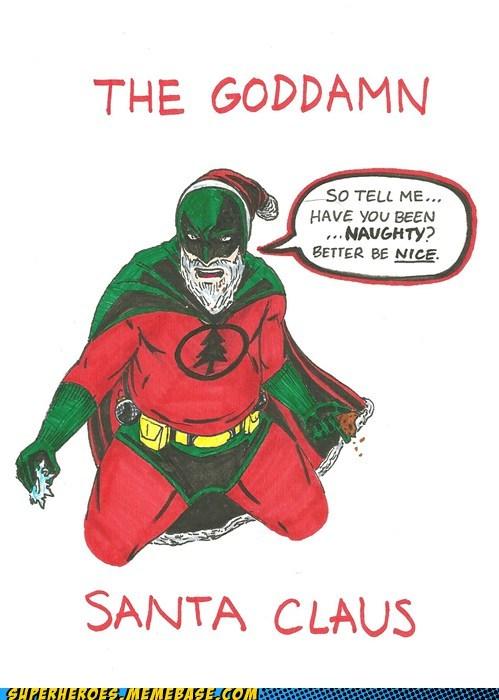 Awesome Art batman naughty santa wtf - 5521381376