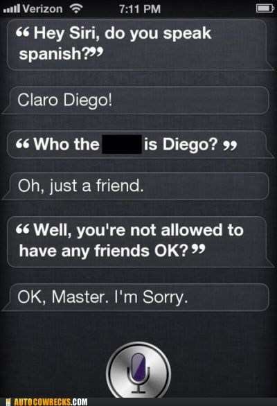 diego,friends,jealous,siri,spanish