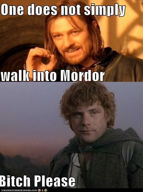 Boromir Lord of the Rings one does not sam gamgee sean astin sean bean - 5521493760