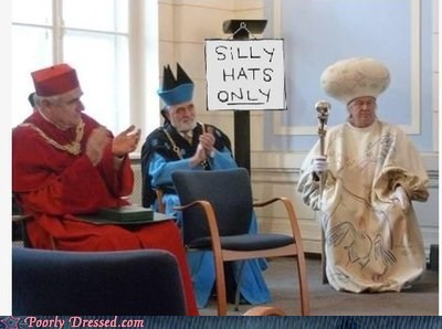 silly hats only,the pope,vatican waiting room