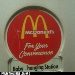 baby changing station diaper fast food McDonald's Parenting Fail spelling whoops - 5522027008