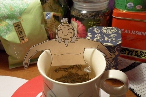 bath man relax tea teabag