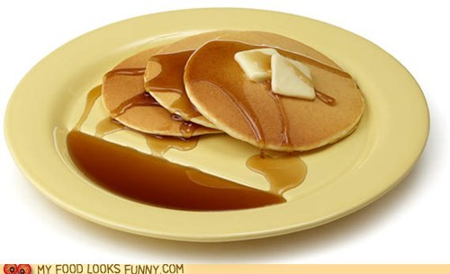 breakfast pancakes plate sauce sloped syrup - 5522066432