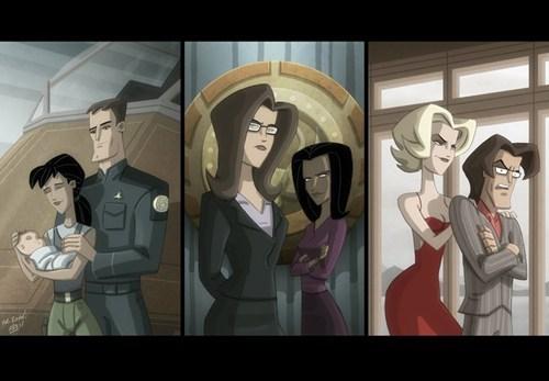 animation,art,Battlestar Galactica,Fan Art,tv shows