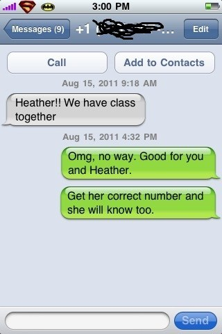 class,heather,school,wrong number