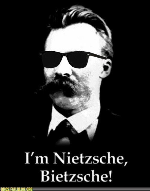 bros douchebags god is dead g rated nietzsche philosophers philosophy puns - 5522189568