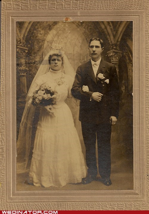 1900s bride funny wedding photos groom Historical poland retro turn of the century vintage