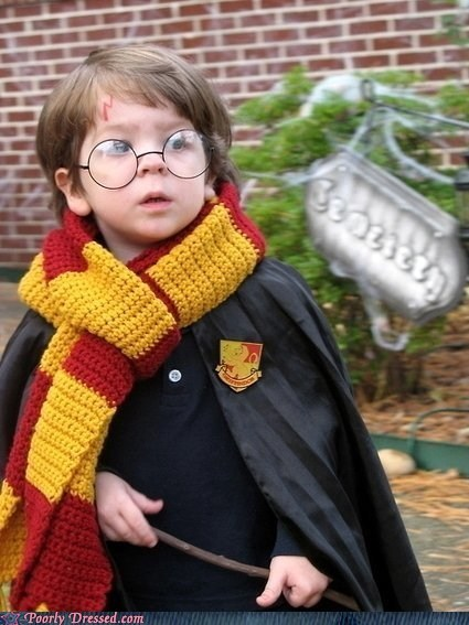 children cosplay Harry Potter winning