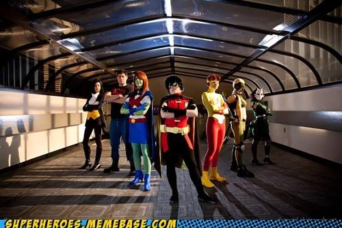 aqua lad robin super boy Super Costume teen titans - 5522343424