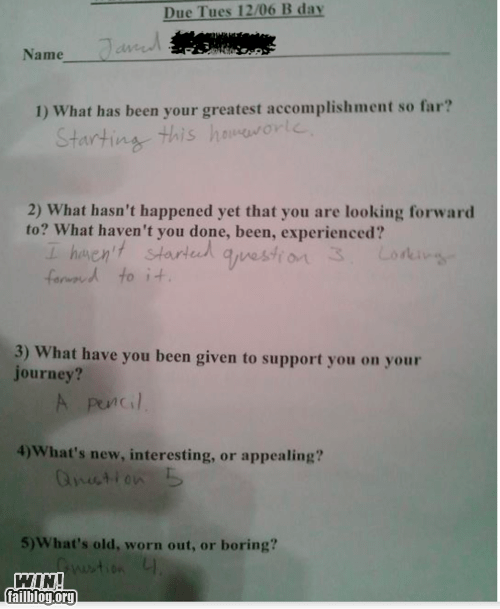 answer clever education response sassy school test