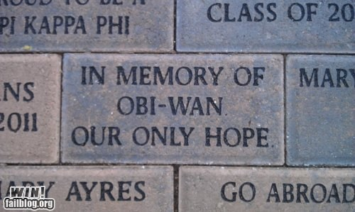 brick carving charity donation nerdgasm obi-wan kenobi star wars