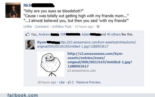 busted facebook failbook forever alone g rated meme mom oh snap social meda