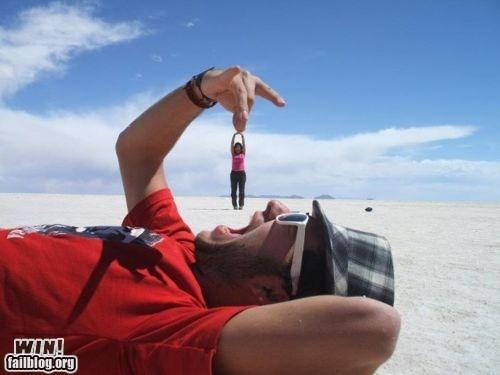 clever gag nom nom nom perspective photography - 5522390272