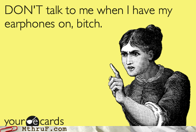 If I'm nodding politely it means I'm not listening to you