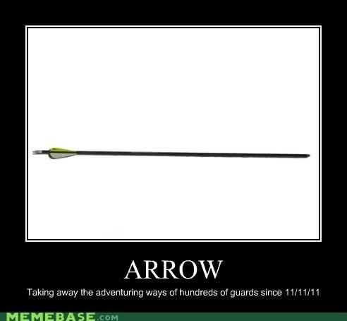 arrow guards Skyrim very demotivational video games - 5522431744