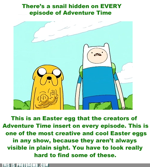 adventure time,best of week,cartoons,easter egg,snail,when you see it