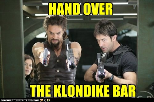 Jason Momoa,klondike bar,ronan dex,Stargate,what would you do