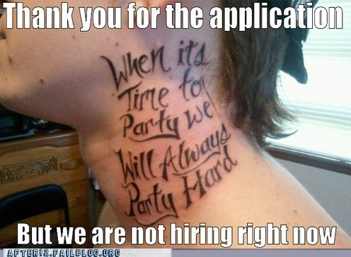 andrew-w-k,ink,job hunt,lyrics,party hard,tattoo