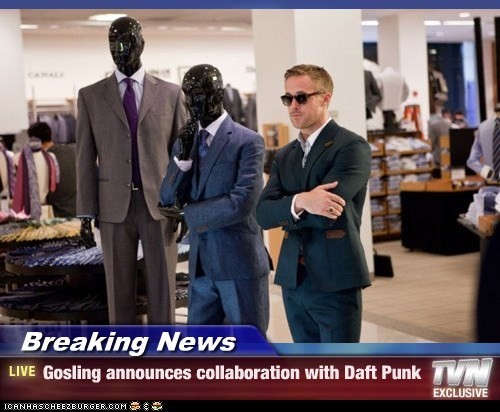 collaboration,daft punk,Mannequins,Ryan Gosling,suits