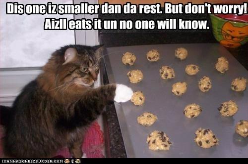 Dis one iz smaller dan da rest. But don't worry! Aizll eats it un no one will know.