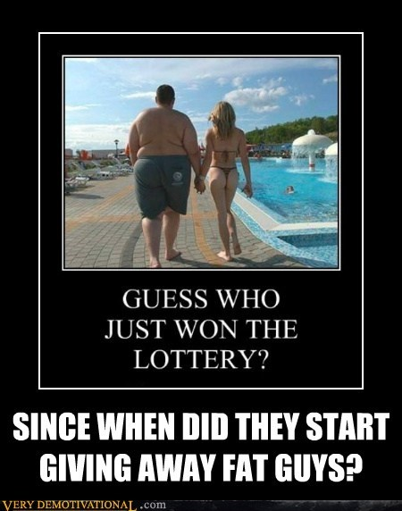 fat guys hilarious lottery Sexy Ladies wtf - 5524340224