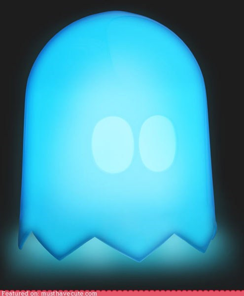 blue ghost lamp light pac man - 5524411904