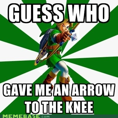 archer,arrow to the knee,Memes,Skyrim,video games,zelda