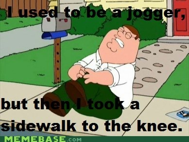 arrow arrow to the knee family guy jogger Memes Skyrim video games - 5524559104